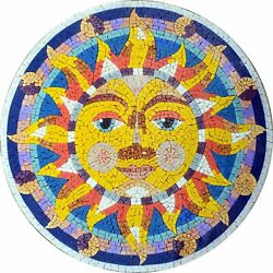 Marble Mosaic Accent - Psychedelic Art Mosaic Celestial Mosaic