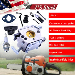 Carburetor Tune Up Kit For Stihl 023 Ms230 250 025 021 Ms210 Chainsaw Air Filter
