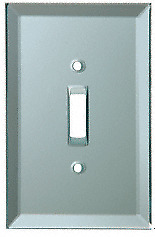CRL Toggle Switch Back Painted Glass Cover Plate - Blue Mist