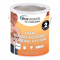 Dicor Rp-crc-1 Epdm Rubber Roof Acrylic Coating 5 Gallons And 5 Quarts Cleaner