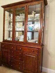 Amish Made Solid Cherry China Cabinet/hutch