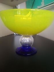 1980s Gunnel Sahlin For Kosta Boda Decorative Glass Bowl, Signed And Numbered.