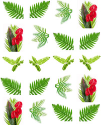 Palm Fronds Waterslide Water Transfer Nail Decals art