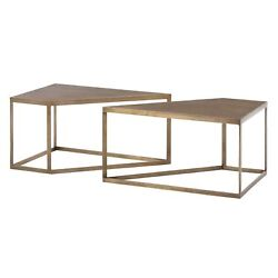 40 Long Coffee Table Modern Antique Brass White Gold Brown Iron Walnut