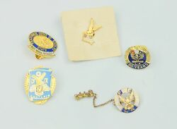Foe Fraternal Order Of Eagles Lapel Pins Lot Of 5 Chaplain Past Madam President