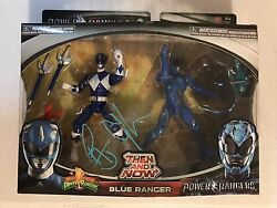 Rj Cyler Signed Autographed Blue Power Ranger Action Figure Then And Now Coa