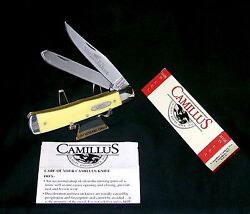 Camillus 717 Yello Jaket Trappers Knife Usa 4-1/8 Closed W/packagingpaperwork