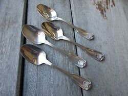 4 Towle Boston Shell 6 1/8 Teaspoons Silverplate Shell Pattern Discontinued