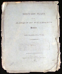 Military Plans For The Marquis Of Wellesleyand039s History Of The Marhatta War 1804 1