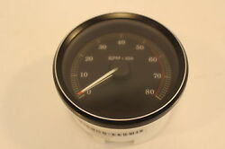 Harley Davidson Oem New Black With Silver Trim Tachometer 67348-04a