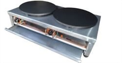 220v Commercial Double Electric Crepe Maker Pancake Pan Griddle Machine To