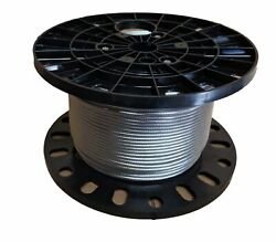 3/8 Stainless Steel Aircraft Cable Wire Rope Type 7x19 Type 316 1000 Feet