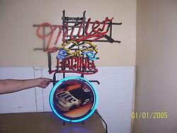 Neon Miller Racing Sign From The 70's