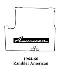1964 1966 Amc Rambler American Trunk Rubber Floor Mat Cover With A-007 American