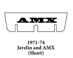 1971 1974 Amc Javelin Trunk Rubber Floor Mat Short Cover Kit With A-070 Amx