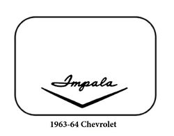 1963 1964 Chevrolet Trunk Rubber Floor Mat Cover With G-127 Impala Wing