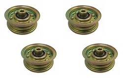 4 Flat Idler Pulleys For Stens 280-044 Rotary 12891 2188 Mower Garden Tractors
