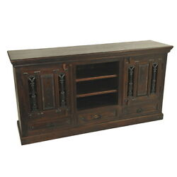 69 W Caleb Buffet 3 Drawer 2 Cast Iron Door Accents Unique Beautiful Hand Made