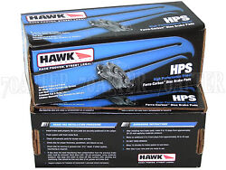Hawk Street Hps Brake Pads Front And Rear Set For 97-01 Acura Integra Type-r