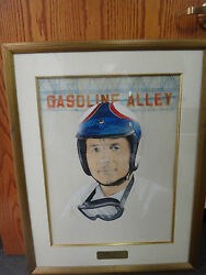 Watercolor Image Indianapolis 500 Hall Of Fame Inductee Parnelli Jones Ims