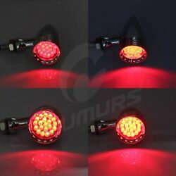 20LED Bullet Red Brake Stop Turn Signal Tail Light For Motorcycle Harley Suzuki