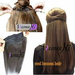Secret Wire Real Human Hair Extensions 100g Straight Hidden Halo Hair Extensions