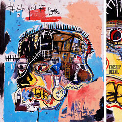 32wx38h Head Skull 1981 By Jean-michel Basquiat Small Repro - Choices Of Canvas