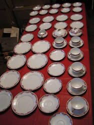 80 Piece Antique European Union T Dinner China Set - Made In Czecho-slovakia