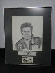 Pencil Drawing Indianapolis 500 Winner Al Unser Ims Museum 1978