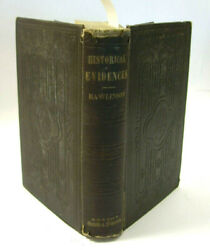 1860 Historical Evidences Of Truth Scripture Records George Rawlinson Antique Hb