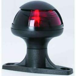 Attwood Pulsar 1nm Sidelight Red Light Raised Base Black W/wire 5080r7