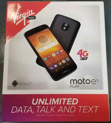 Brand New Virgin Mobile Moto E5 Play Prepaid Smartphone 16gb 5.2 Cell Phone