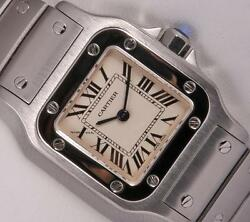 Lady Santos Galbee 1565 Stainless Steel 23mm Watch-roman Numeral Dial