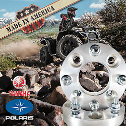 2 Pc. Usa Made 4x156 Wheel Adapters/spacers 1.25 Thick For Polaris And Yamaha Atv