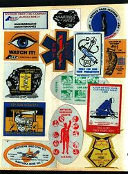 Huge Lot Of 100 Different Aep-martinka- Coal Co. Coal Mining Stickers
