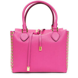 Collection Fuschia Leather Grommet And Silver Miranda