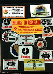 Huge Lot Of 50 Different Eastern Coal Co. Coal Mining Stickers