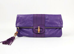 [Auth] GUCCI  ~Bamboo Clutch bag~ Free shipping #91633
