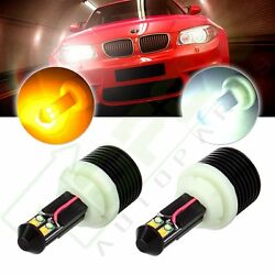 3157 3156 Luminous White Amber Dual Color Switchback LED Turn Signal Light