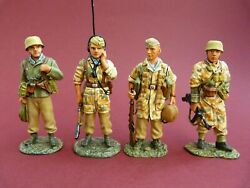 King And Country Ak011 Retired - Afrikakorps - Soldats Allemands Ww2