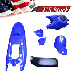 For Yamaha Pw50 Pw 50 Plastic Fender Seat Gas Tank Kit Blue M Ps38