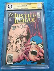 Justice League 1987 17 -dc - Cgc Ss 9.4 -signed By Maguire Giffen Dematteis