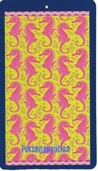 30 X 60 Inch Personalized Beach Pool Towel Wild Seahorses Design New $24.95