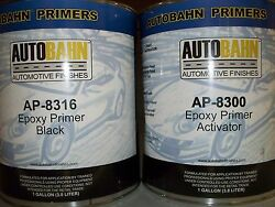 Epoxy Primer Sealer And Catalyst Black 2 Gallon Kit Direct To Metal Car Auto Kit