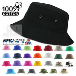 Classic Quality Bucket Hat 100% Cotton Size S M L XL Summer Fisherman Hat Cap $9.99