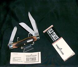 Schrade 89ot Knife 1980and039s Blazer Old Timer Stockman 4 Closed W/packagingpapers