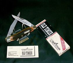 Schrade 77ot Knife Improved Muskrat Old Timer 3-7/8 Closed 1980and039s W/packaging