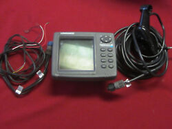Lowrance 510c Series Depth Finder-used Transducer And Power Cable