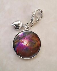 Choose Planet Nebula Moon Astronomy Astrophysics .925 Sterling Silver Charm