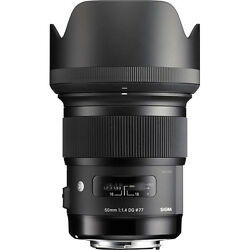 Sigma 50mm F/1.4 Dg Hsm Art Lens For Canon Ef - Sigma Usa Authorized Dealer